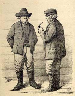 Freie Bauern in Finnland. Severin Falkman, 1882, Chromolithografie