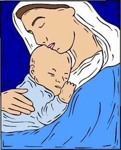 Die wohl bekannteste Namensträgerin für Maria: Maria - die Mutter des Jesus.